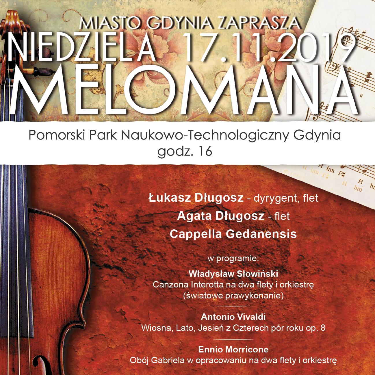 """Niedziela Melomana """"Władysław Słowiński – Koncert na dwa flety i orkiestrę"""""""