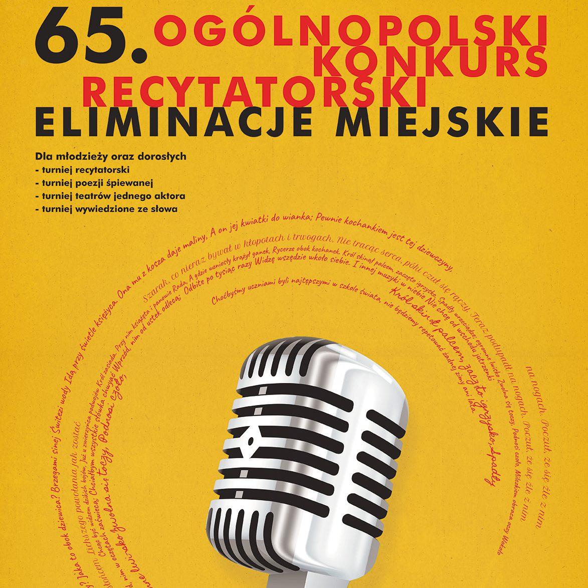 65. Ogólnopolski Konkurs Recytatorski – eliminacje miejskie