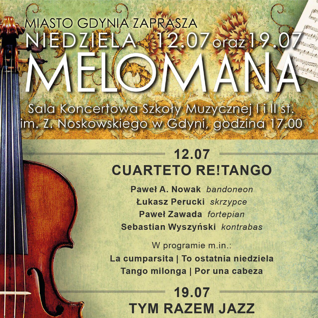 Niedziela Melomana w Szkole Muzycznej – CUARTETO RE!TANGO